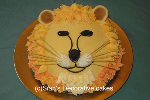 Lion Birthday Cake Instructions Image Inspiration of Cake and